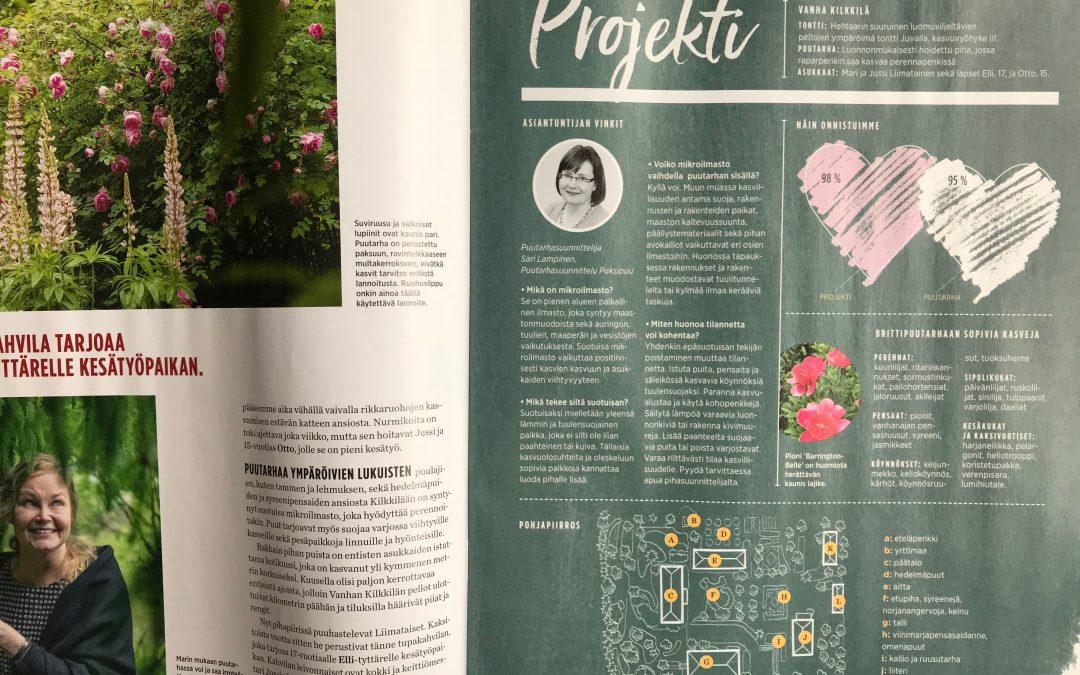 Vanha Kilkkilä ja projekti mikroilmasto Meidän talo-lehdessänro 8/2018