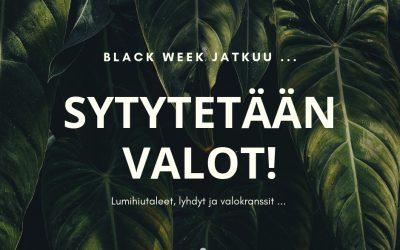Black Week tarjoukset – valmissuunnitelmat ja valonauhat!